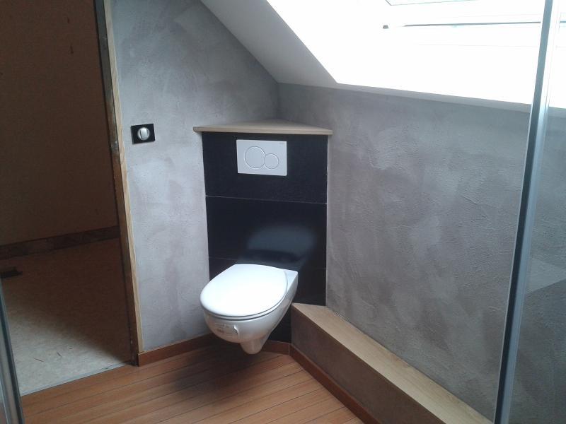 Pose du WC en angle EURL CALLENCE SIMONET DOMINIQUE