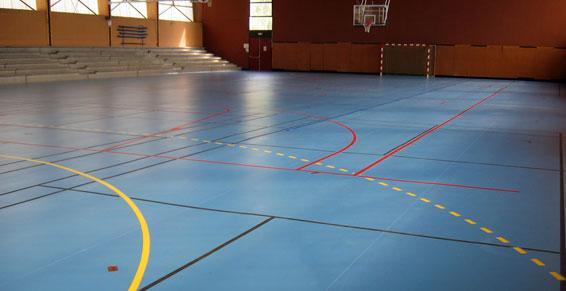 Sol sportif gymnase Autun