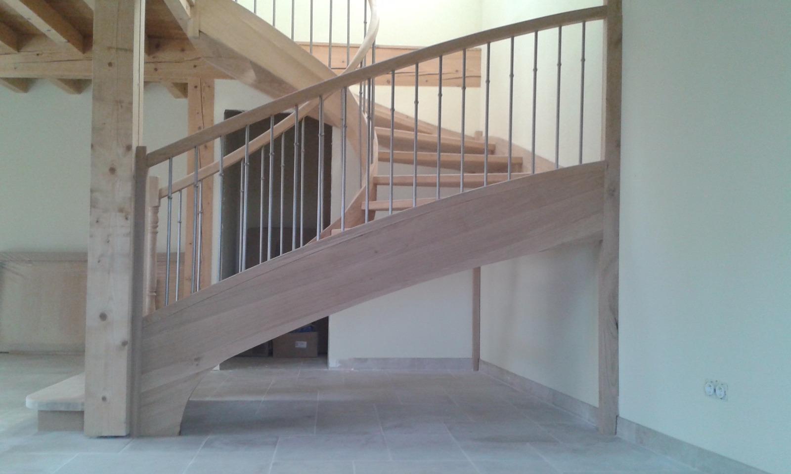 escalier deux quart tournant profil
