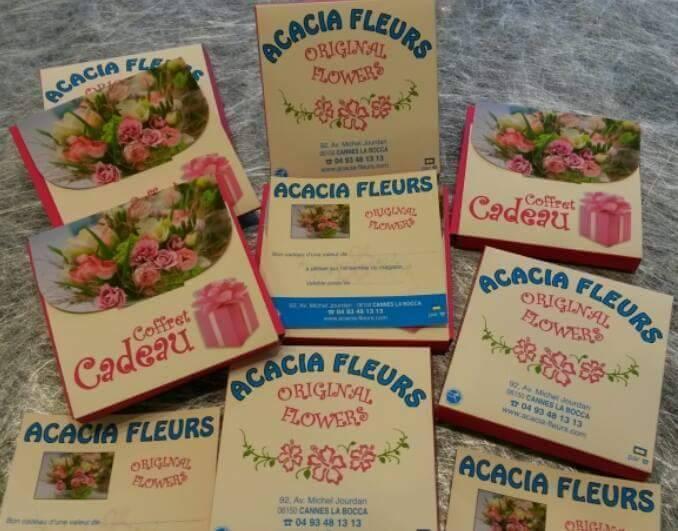 Coffret cadeau floral - Acacia Fleurs - Fleuriste Cannes