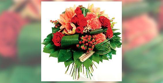 Bouquet composé - Acacia Fleurs - Fleuriste Cannes