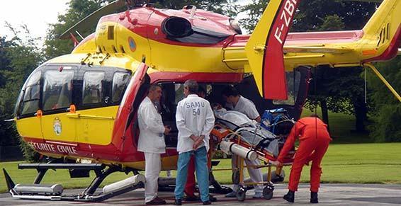 ambulances - transport par hélicoptère