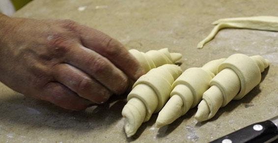 Boulangerie croissante préparation