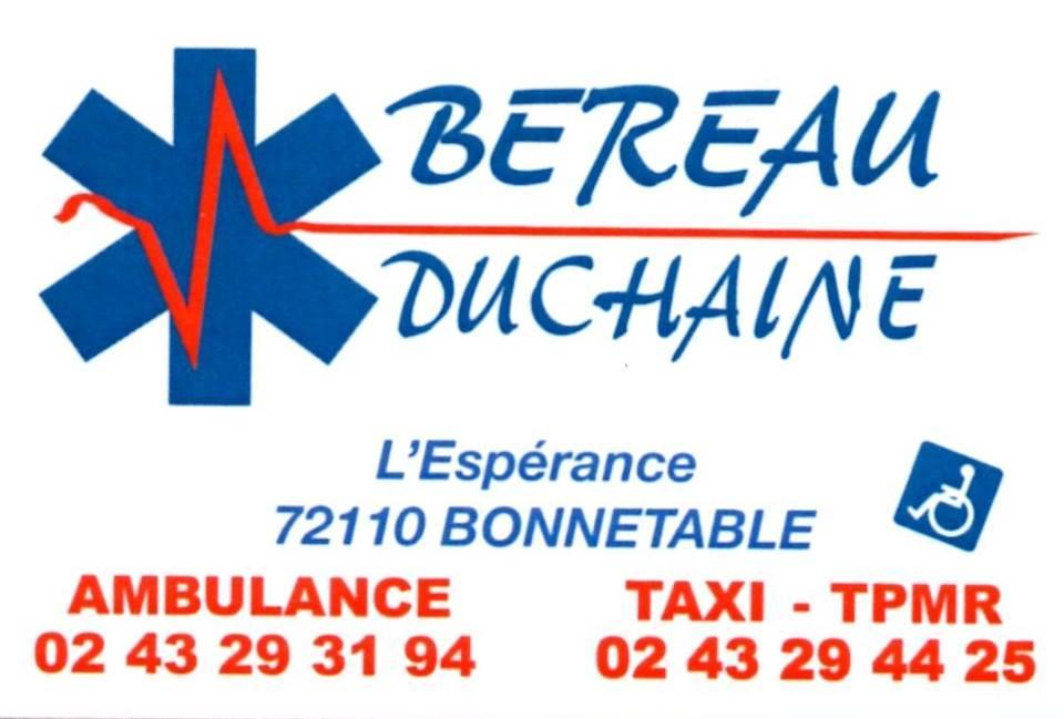 Ambulances Béreau-Duchaine Bonnétable Sarthe 72