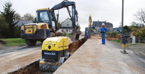 travaux publics - assainissement eaux usées - le tertre