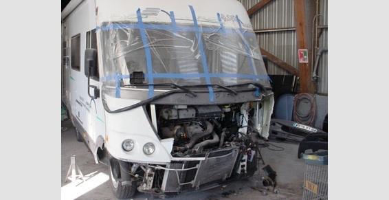 camping car accidentée