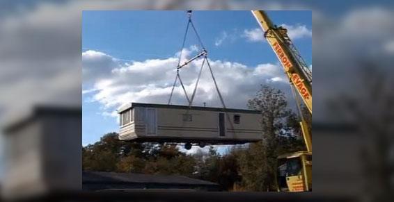 manutention levage - déplacement mobil-home Rouen