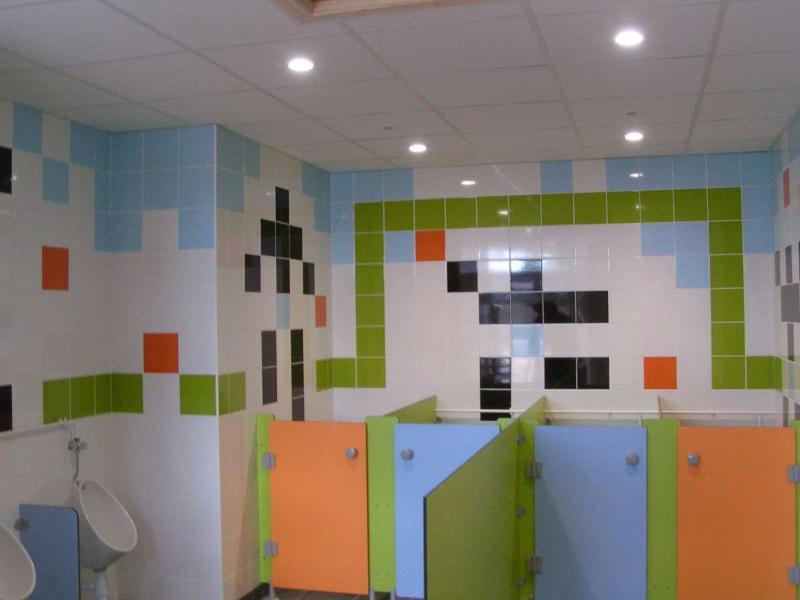 Sanitaires d'une école sur Angers