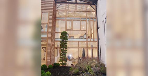 façade bois et verre