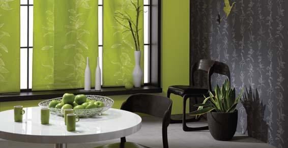 revêtements sols - murs - Papier peint Casadeco tissus vert