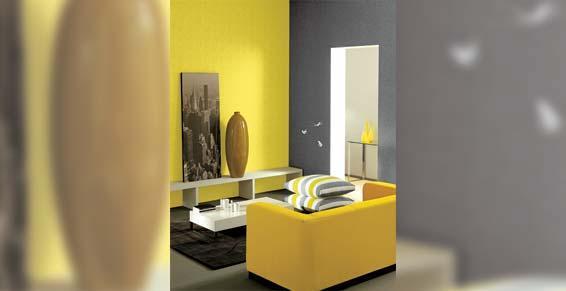 papiers peints - Casadeco Salon jaune