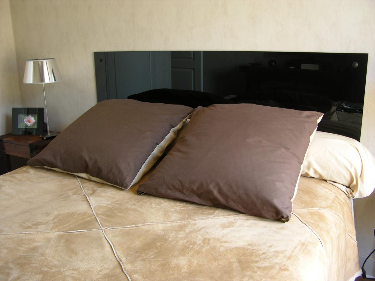 Tête de lit Lacobel noir