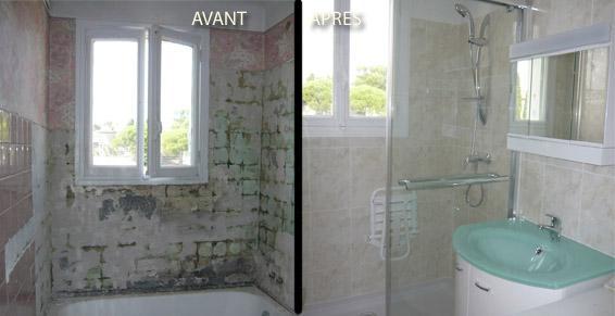 AJC Peinture rénove votre salle de bains à Mandelieu