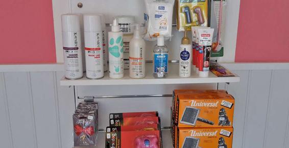 Nous proposons aussi des produits pour l'entretien du pelage