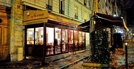 Devanture du restaurant, La Vie d'Ange à Paris 14ème