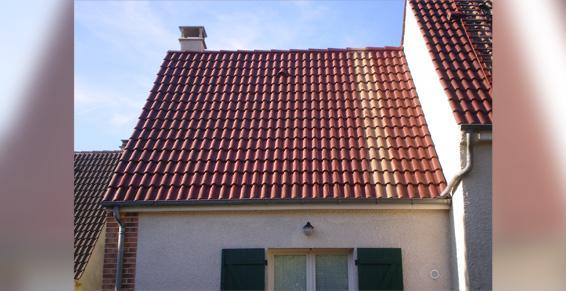 Démoussage, traitement des toitures - Après