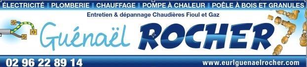 logo Guenael Rocher, électricité, chauffage