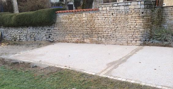Maçonnerie de pierre à Tillou - Terrassement