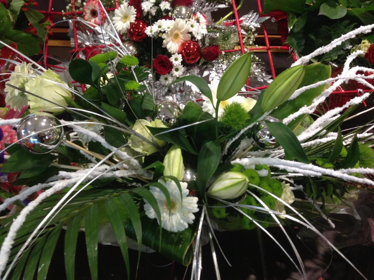 Bouquet de table Noël Lola Fleurs Alès