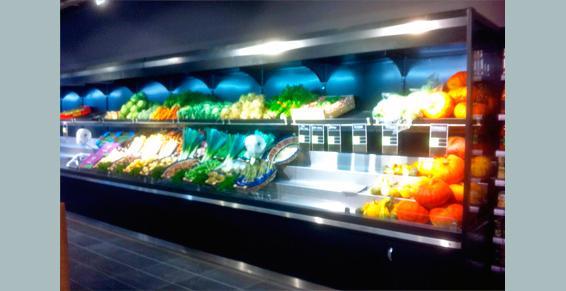 Etals de légumes