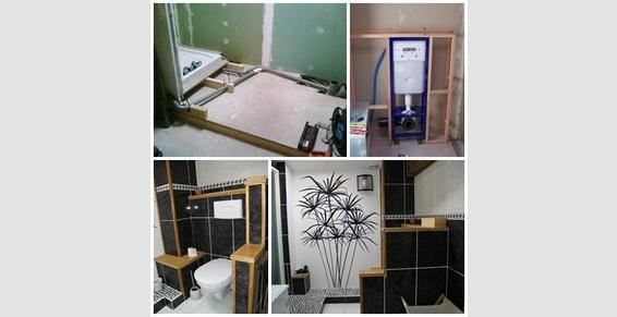 création salle de bain avec plomberie et sanitaires inclus