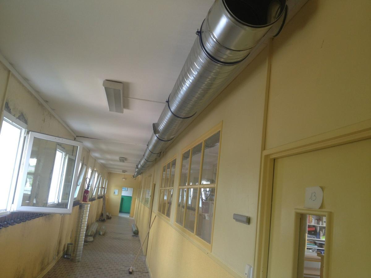 Réalisation du système de ventilation d'une école à Verneuil sur Seine