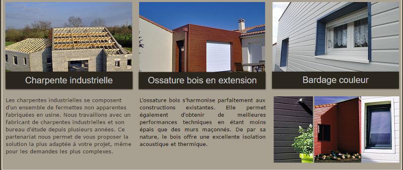 Charpente industrielle - fermettes - extension - Saint Colomban