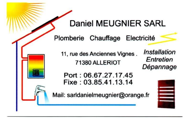 Carte de visite - Daniel Meugnier à Allériot