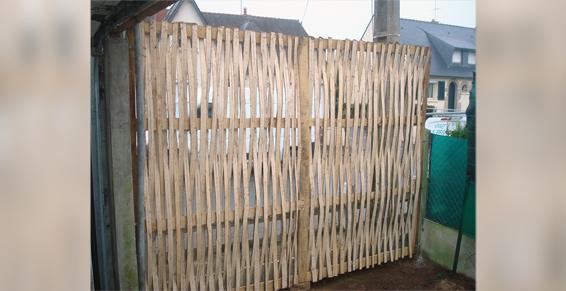 Pose de clôtures de jardin à Vitré
