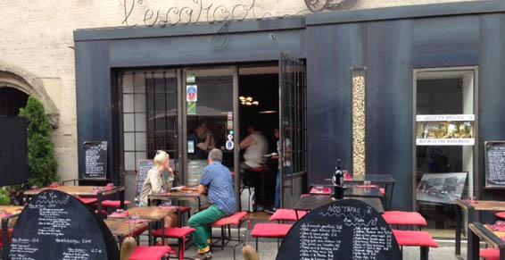 Terrasse du Restaurant L'Escargot à Carcassonne