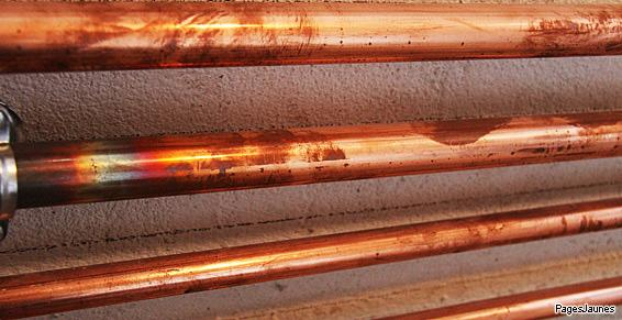 Arradon - Plomberie tuyaux en cuivre