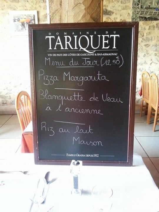 Le Calypso, menu, Aveyron