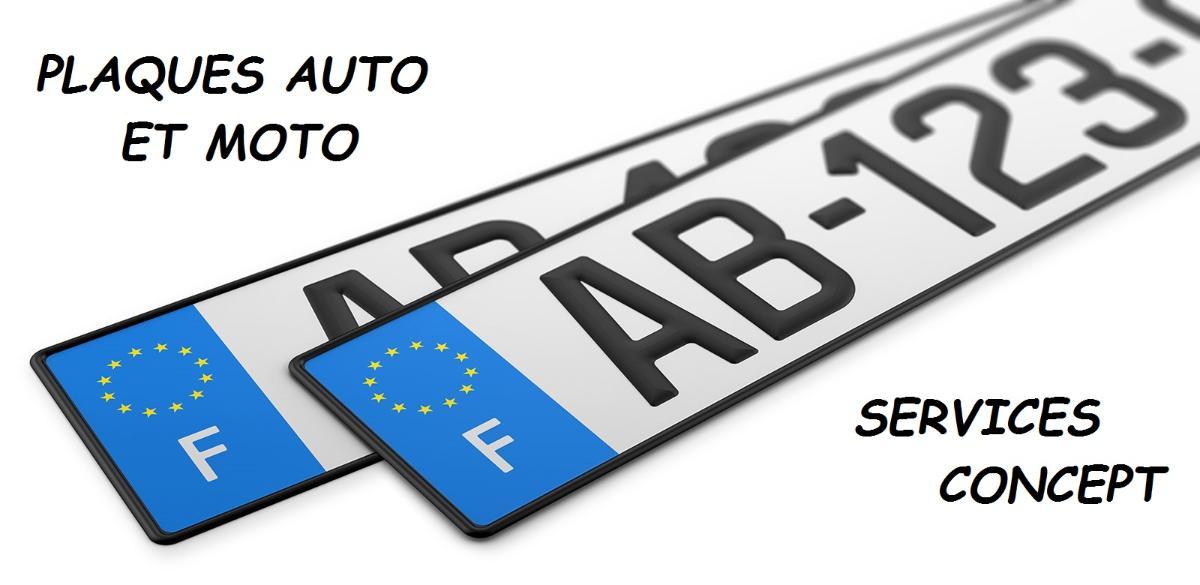 plaques minéralogiques auto et moto - Bellerive sur Allier Vichy