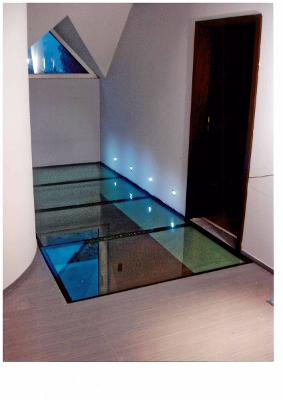 dalle de plancher en verre