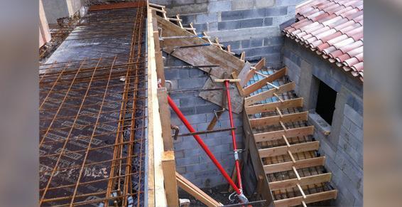 Maçonnerie - Construction des escaliers