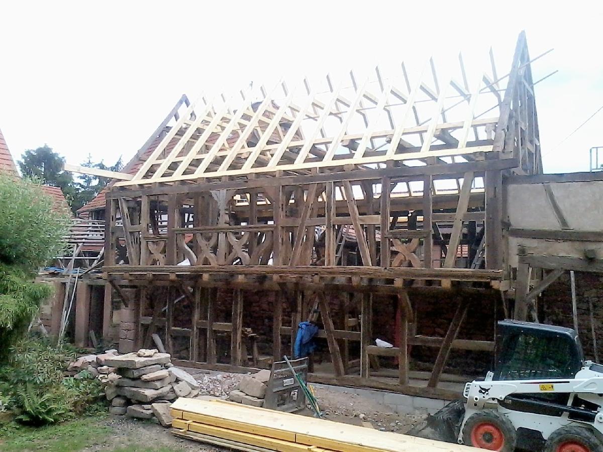 Rénovation Charpente Corps de Ferme Bas Rhin