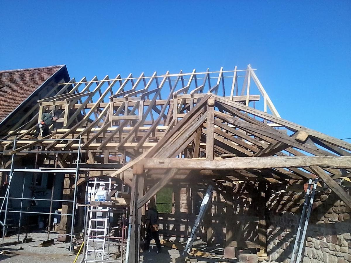 Construction avec bois ancien Bas-Rhin
