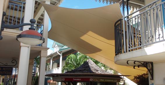 Voile ombrage  à la Martinique