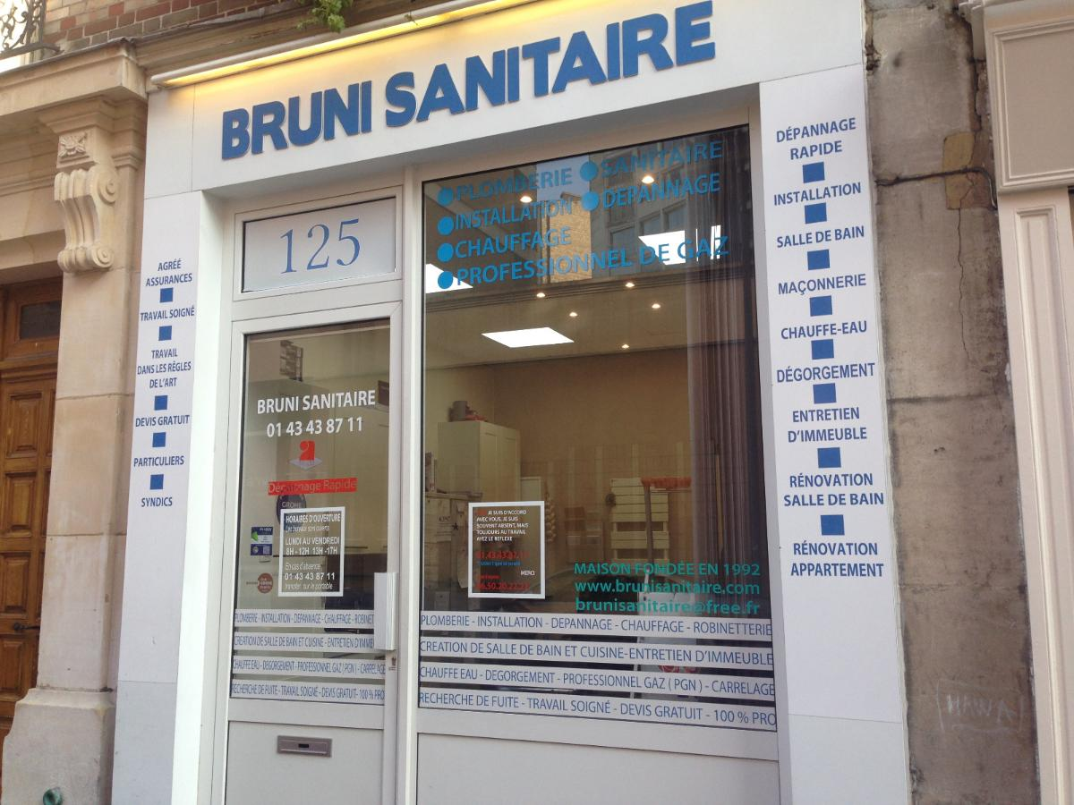 Bruni sanitaire, plombier chauffagiste à Paris 12