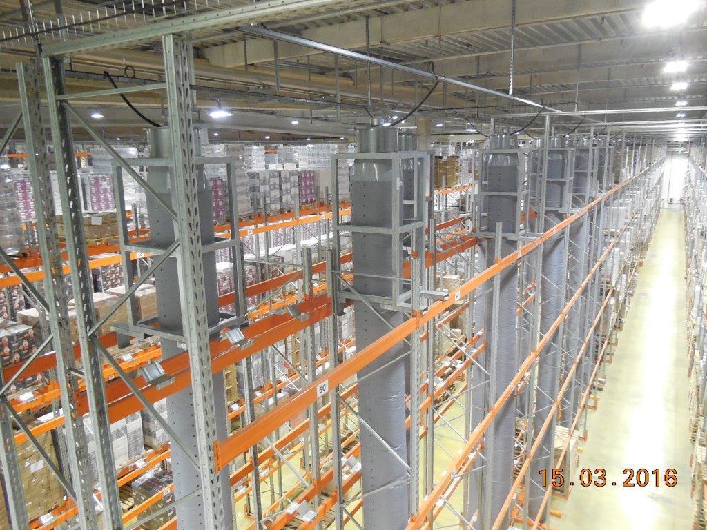 Equipement rack de stockage de support ventilation (châssis galvanisés)
