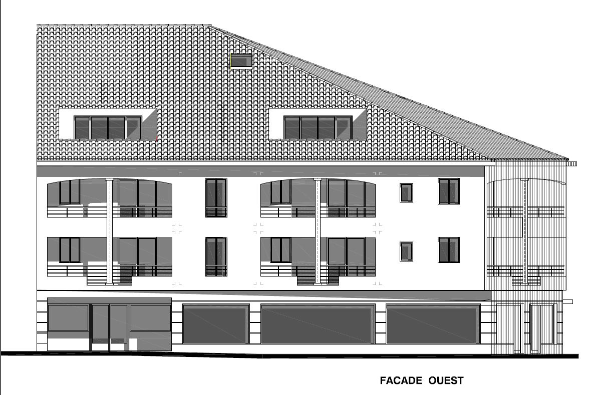 Façade Ouest maison près de Salon de Provence