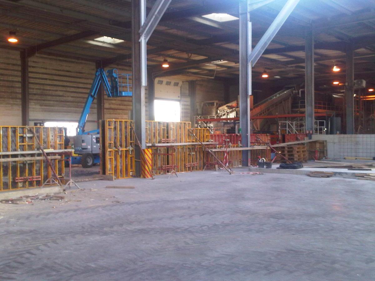 Génie civil usine