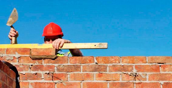 Maçonnerie entreprises - montage de mur en briques