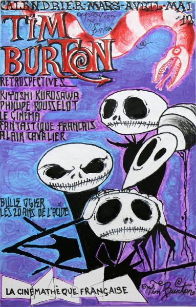 Hergos design graphique-promo 2016 projet Tim Burton