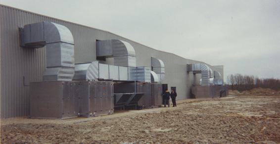 Climatisation d'un bâtiment industriel
