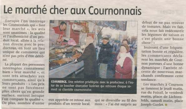 Votre artisan boucher charcutier traiteur Maison Vignal de Grandrieu (48) au marché de Cournon