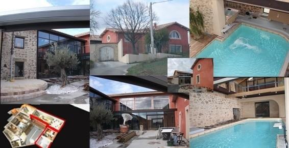 Réhabilitation d'une grange avec piscine