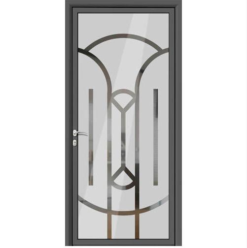 Porte d'entrée vitrée aluminium