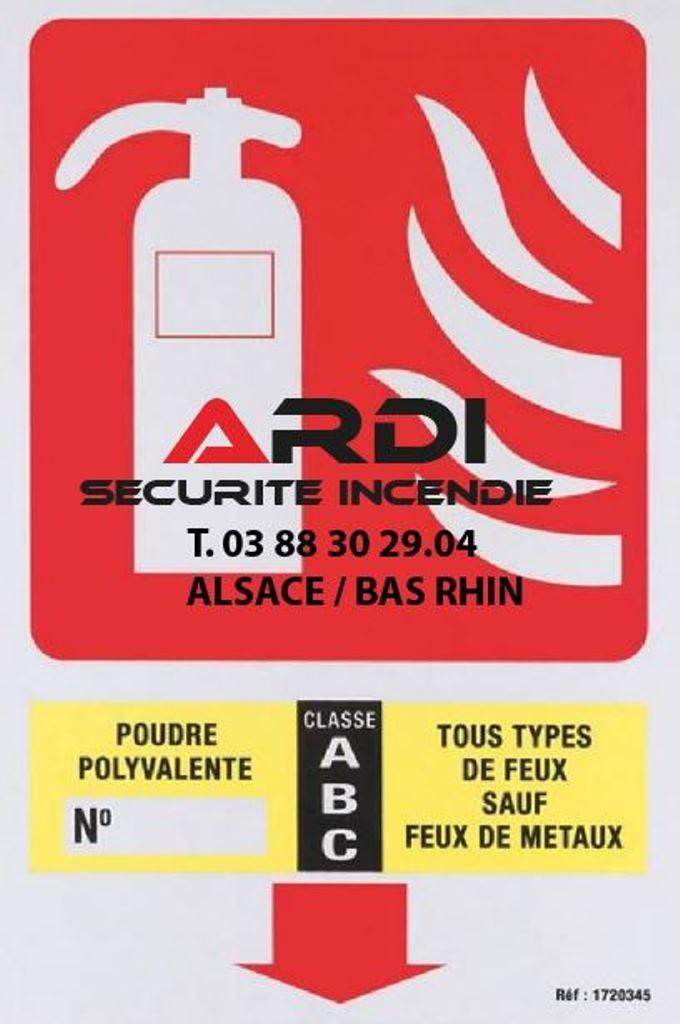 panneau extincteur Ardi sécurité incendie