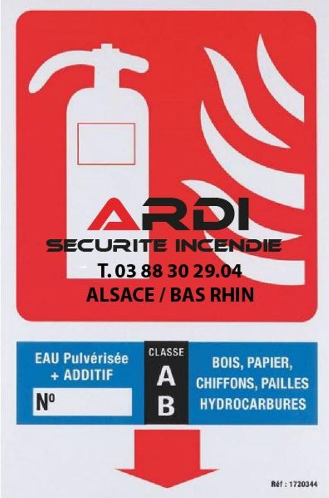 panneau extincteur ab Ardi sécurité incendie